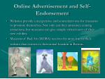online advertisement and self endorsement