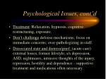 psychological issues cont d15
