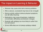 the impact on learning behavior