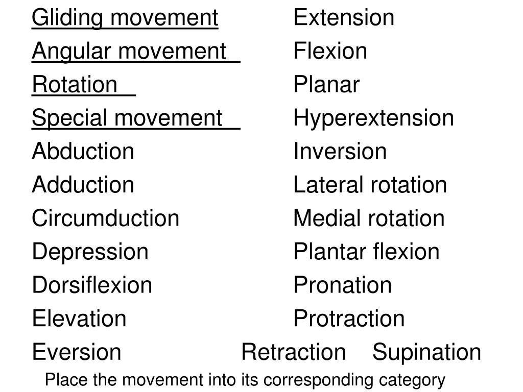 Gliding movement