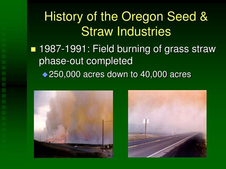 History of the oregon seed straw industries