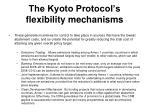 the kyoto protocol s flexibility mechanisms