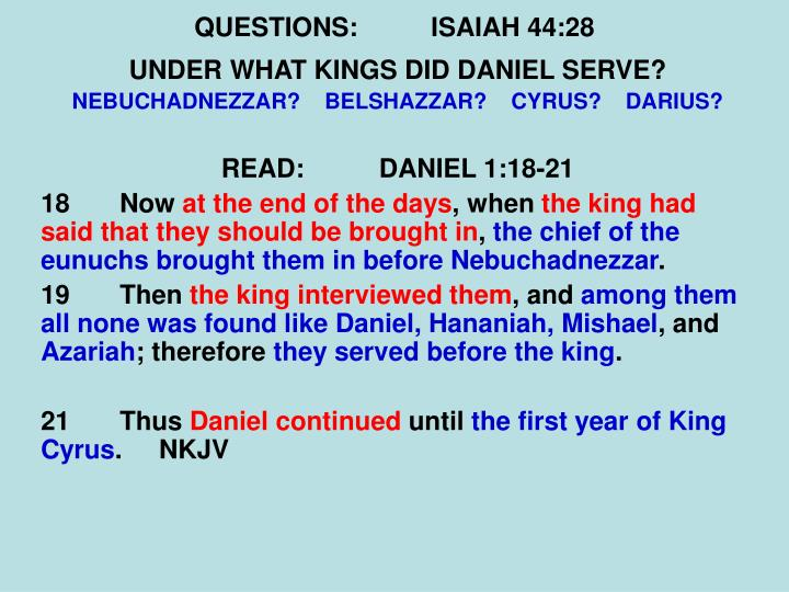 QUESTIONS:ISAIAH 44:28