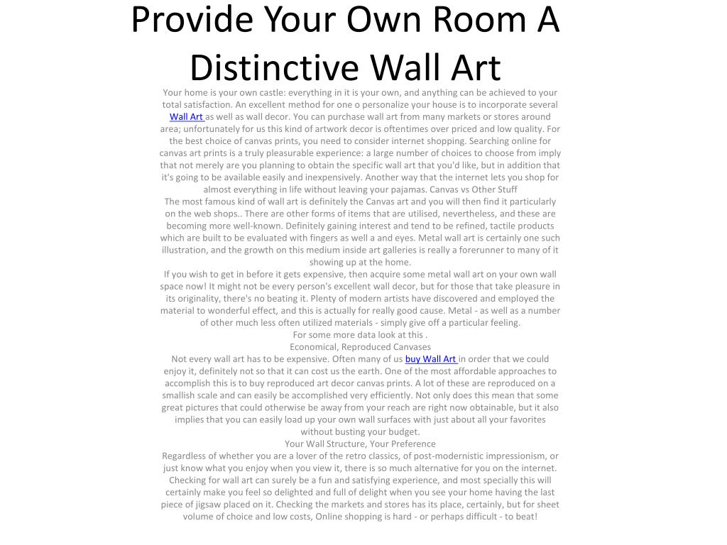provide your own room a distinctive wall art l.