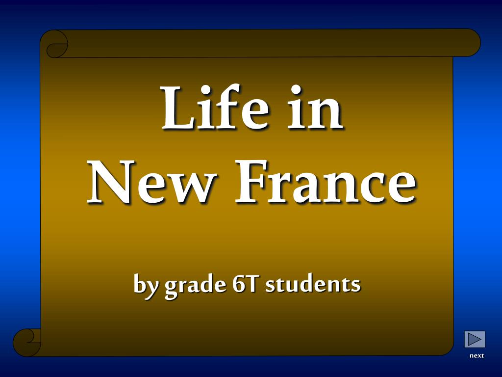 life in new france l.