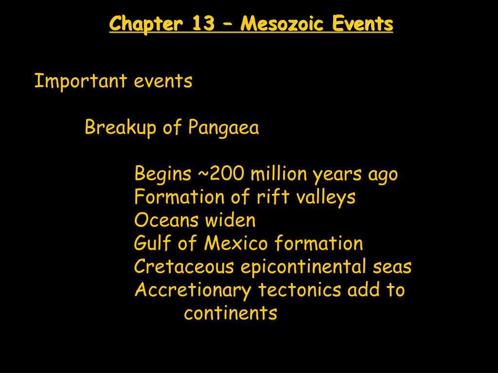 chapter 13 mesozoic events l.