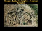 mesozoic subduction complex franciscan formation