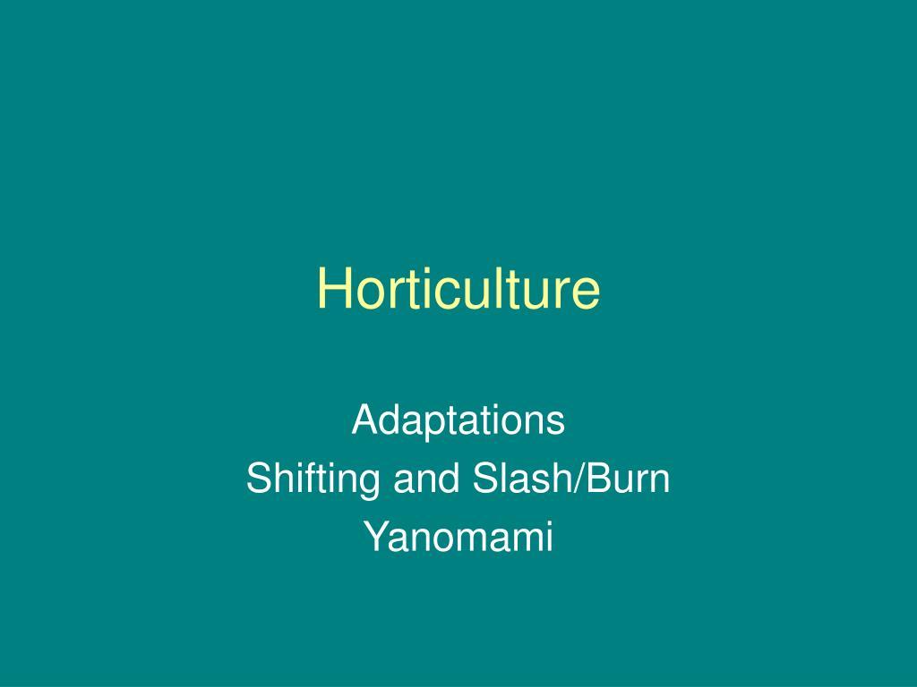 horticulture l.