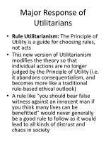 major response of utilitarians