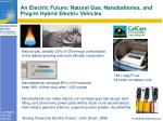 an electric future natural gas nanobatteries and plug in hybrid electric vehicles