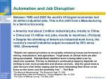automation and job disruption