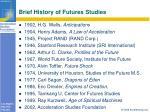 brief history of futures studies