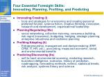 four essential foresight skills innovating planning profiting and predicting