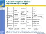human development studies sequential growth stages