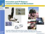 innovation and ip balance lessons of bose and microvision