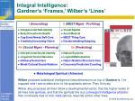 integral intelligence gardner s frames wilber s lines