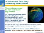 it globalization 2000 2020 promontory point revisited