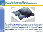 marbles landscapes and basins complex systems evolution development
