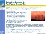 saturation example 2 total world energy use