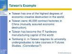 taiwan s example