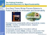 two political polarities innovation discovery vs mgmt sustainability