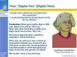 your digital you digital twin