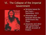vi the collapse of the imperial government