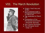 viii the march revolution