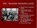 xiii november revolution cont