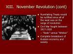 xiii november revolution cont21