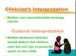 clinician s interpretation43