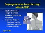 esophageal tracheobronchial cough reflex gerd