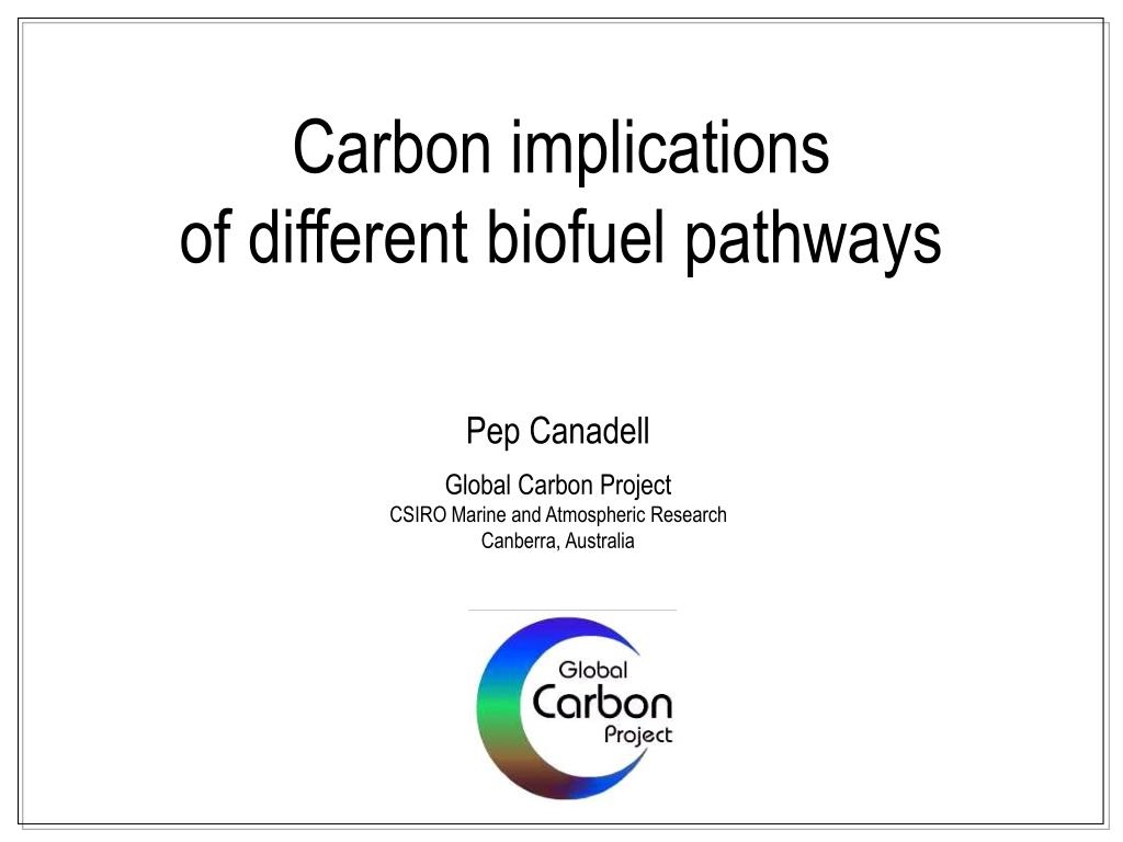 carbon implications of different biofuel pathways l.