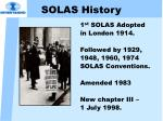 solas history