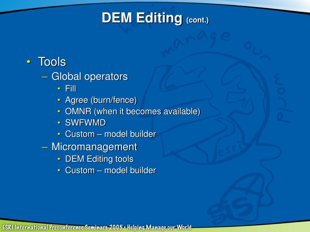 DEM Editing