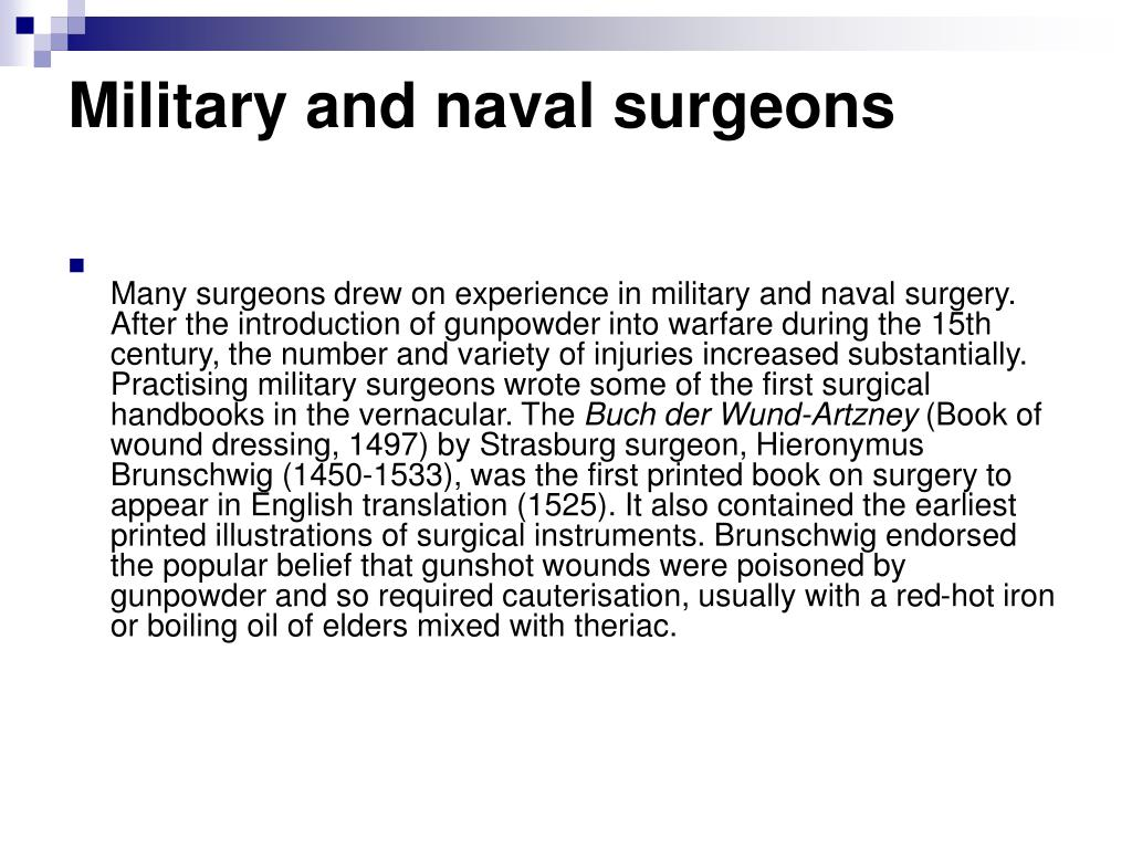 Military and naval surgeons
