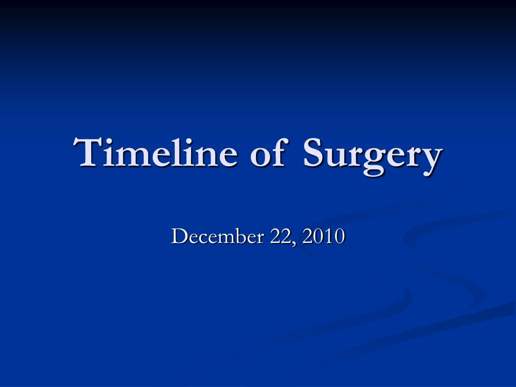 Timeline of Surgery