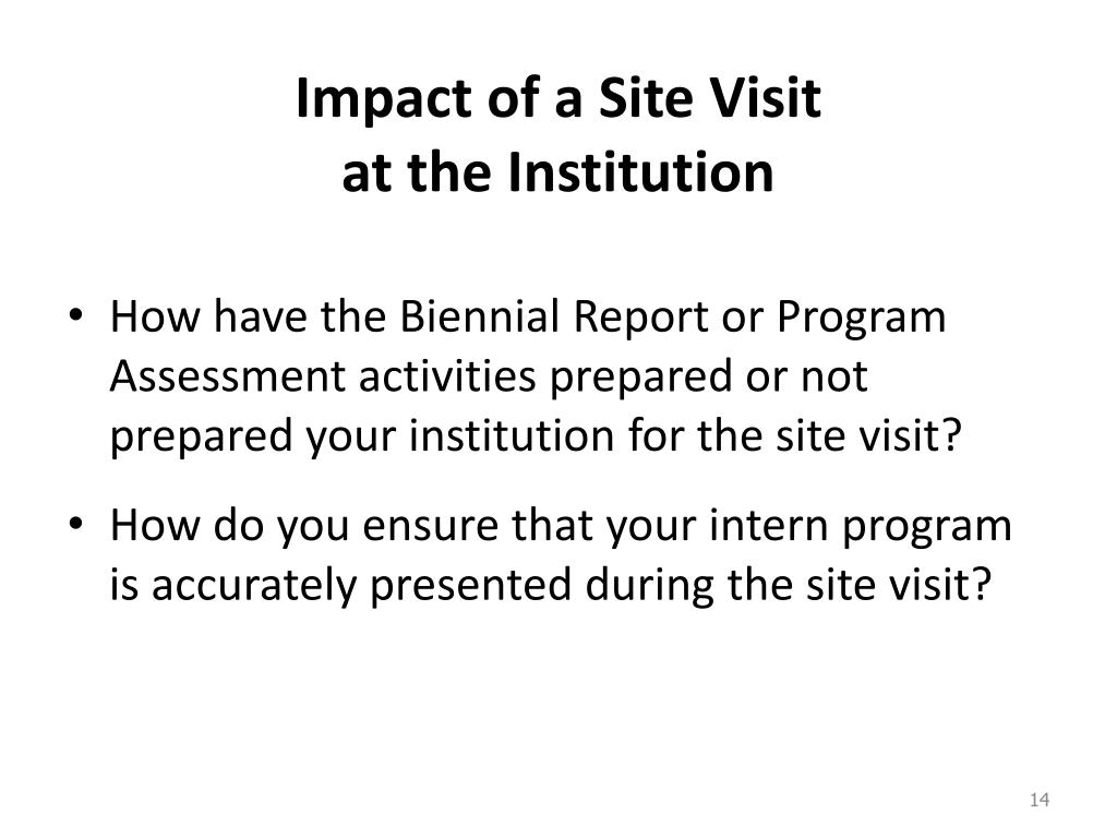 Impact of a Site Visit