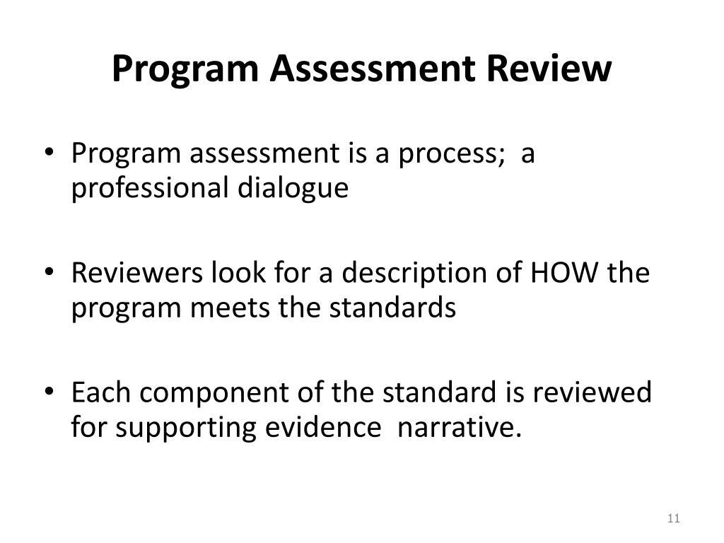 Program Assessment Review