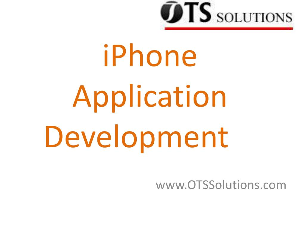 iphone application development l.