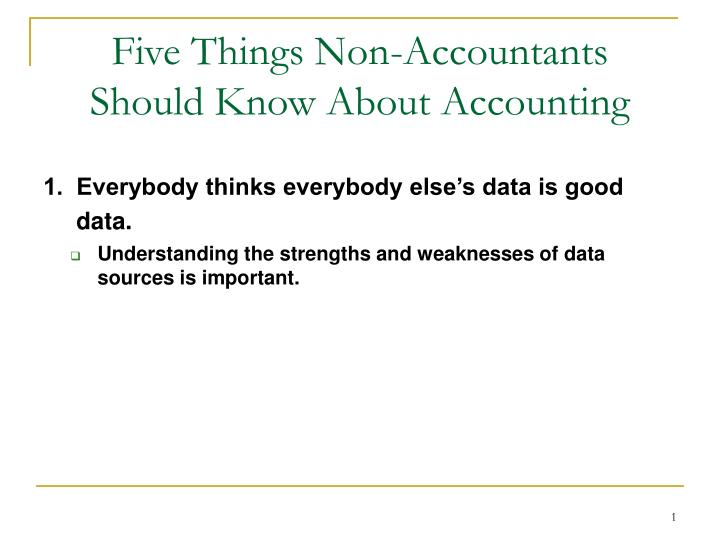 Five things non accountants should know about accounting2