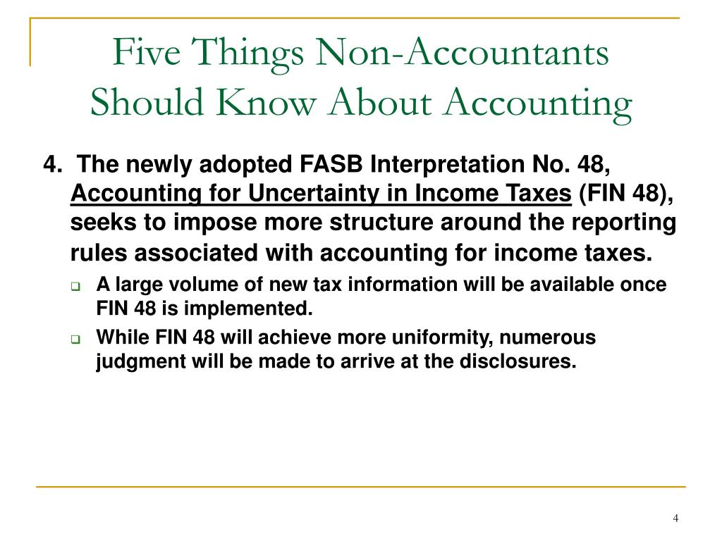 Five Things Non-Accountants