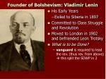 founder of bolshevism vladimir lenin