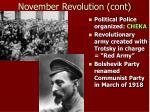 november revolution cont