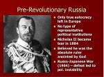 pre revolutionary russia