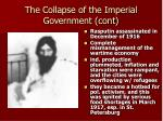 the collapse of the imperial government cont