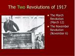 the two revolutions of 1917