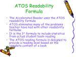 atos readability formula
