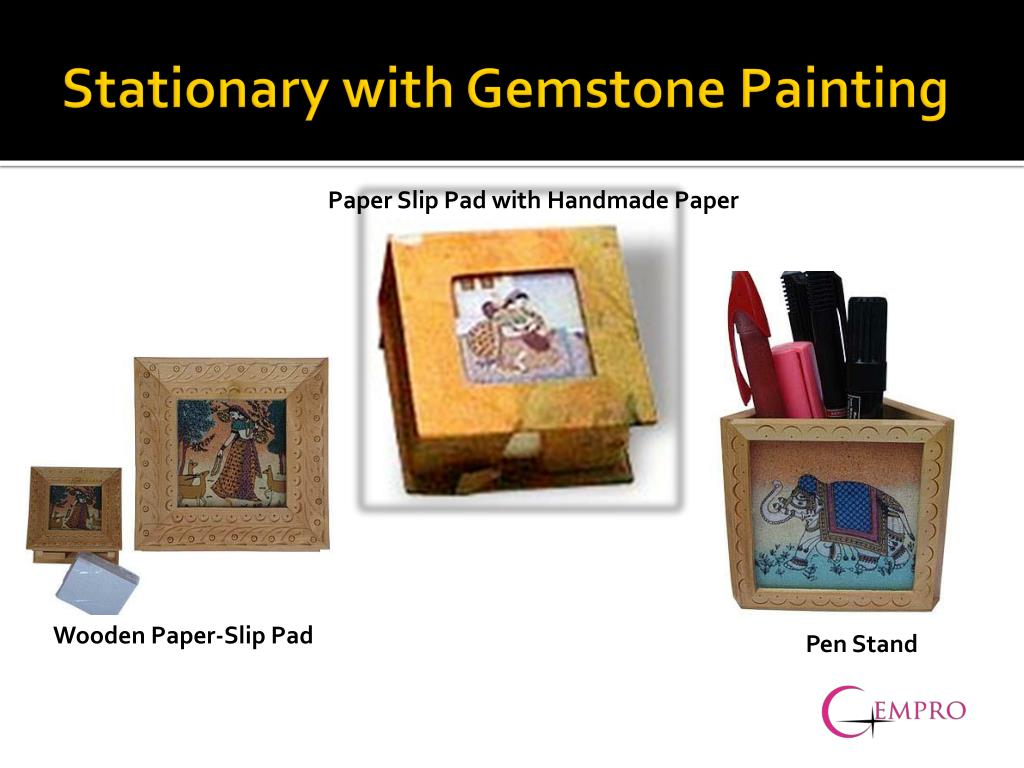 Stationary with Gemstone Painting