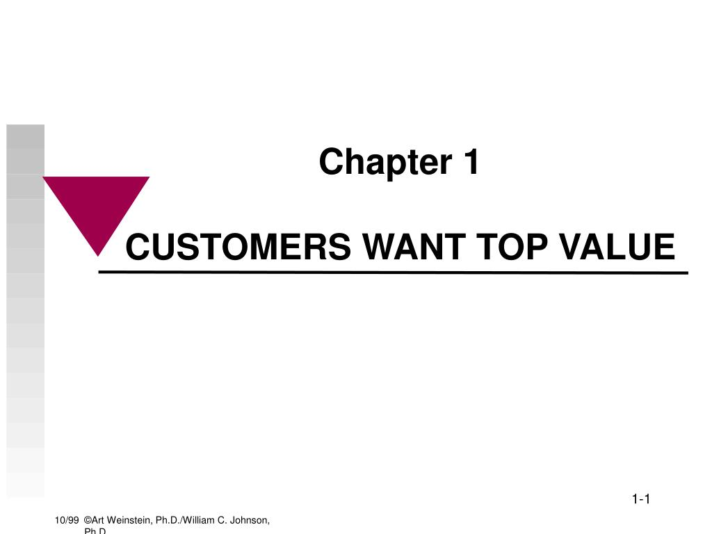 chapter 1 customers want top value l.